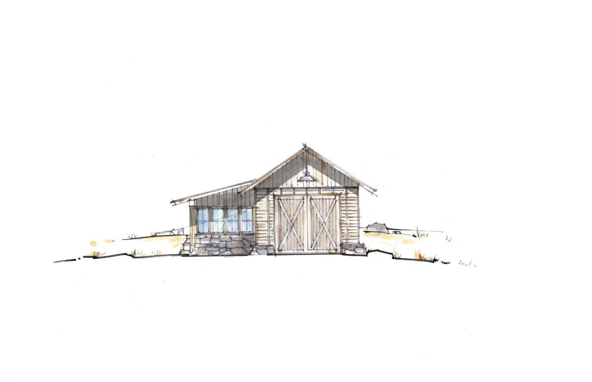 Cooperman Garage South Elevation