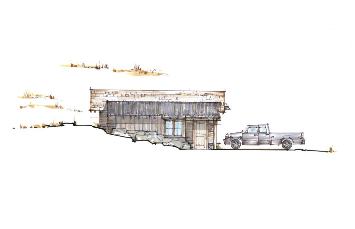 Cooperman Garage West Elevation
